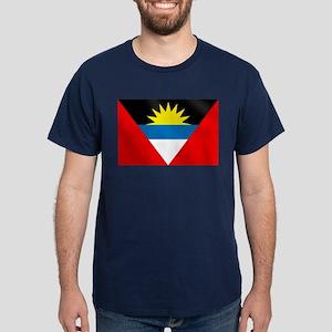 Antigua and Barbuda Flag Dark T-Shirt