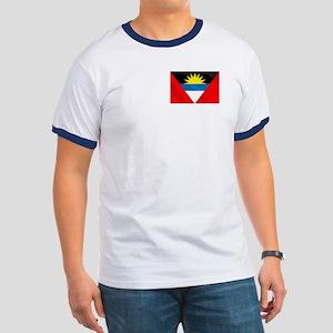 Antigua and Barbuda Flag Ringer T