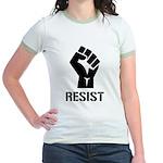 Resist Fist Liberal Politics Jr. Ringer T-Shirt