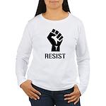 Resist Fist Liberal Po Women's Long Sleeve T-Shirt