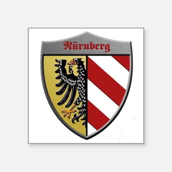 Nuremberg Germany Metallic Shield Sticker