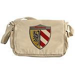 Nuremberg Germany Metallic Shield Messenger Bag