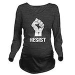 Resist Fist Liberal Long Sleeve Maternity T-Shirt