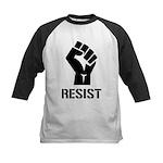Resist Fist Liberal Politics Kids Baseball Jersey