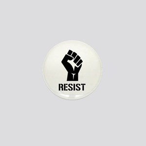 Resist Fist Liberal Politics Mini Button