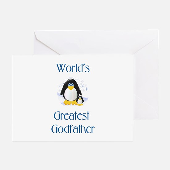 World's Greatest Godfather (penguin) Greeting Card