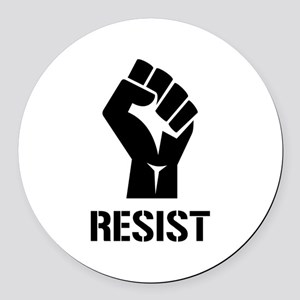 Resist Fist Liberal Politics Round Car Magnet