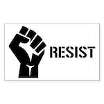 Resist Fist Liberal Poli Sticker (Rectangle 10 pk)