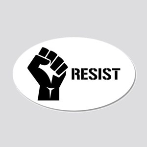 Resist Fist Liberal Politics 20x12 Oval Wall Decal