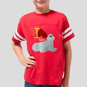 walrus_black Youth Football Shirt