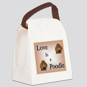 Love is Poodle Canvas Lunch Bag