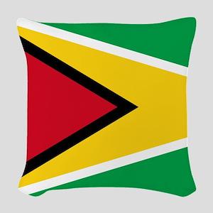 Flag of Guyana Woven Throw Pillow