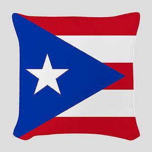 Flag of Puerto Rico Woven Throw Pillow
