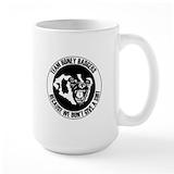 Honey badger Large Mugs (15 oz)