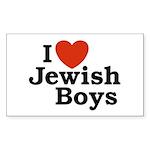 I Love Jewish Boys Rectangle Sticker