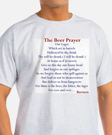Beer Prayer, Beer Humor Ash Grey T-Shirt
