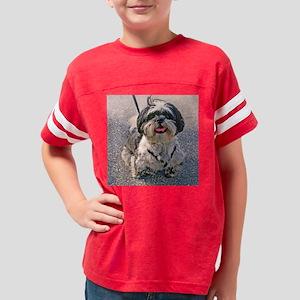 shih tzu dog Youth Football Shirt