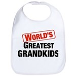 World's Greatest Grandkids Bib