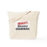 World's Greatest Grandkids Tote Bag