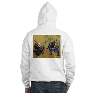 Hooded Sweatshirt, Warrior Monk of Mt Hiei