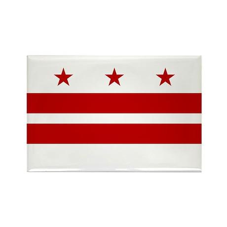 DC Flag Rectangle Magnet (10 pack)