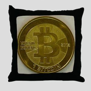 Casascius Bitcoin Throw Pillow