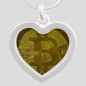 Casascius Bitcoin Silver Heart Necklace