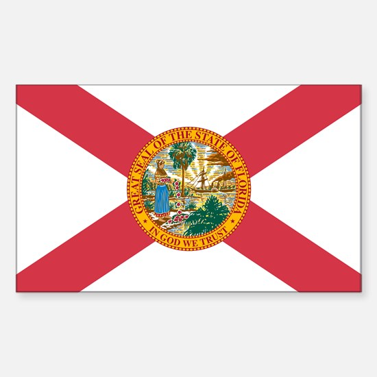 Florida Flag Rectangle Decal