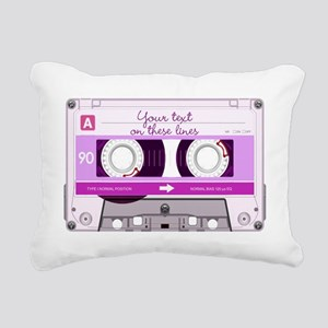 Cassette Tape - Pink Rectangular Canvas Pillow