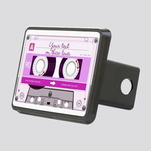 Cassette Tape - Pink Rectangular Hitch Cover