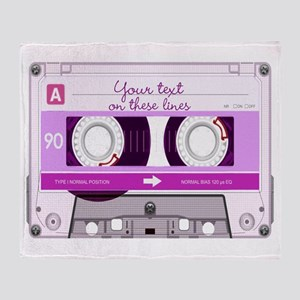 Cassette Tape - Pink Throw Blanket