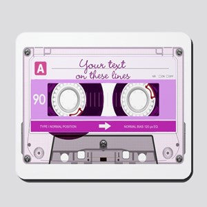 Cassette Tape - Pink Mousepad