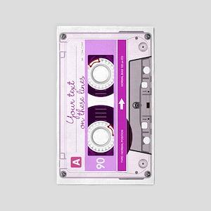 Cassette Tape - Pink 3'x5' Area Rug