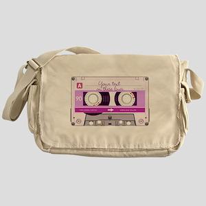 Cassette Tape - Pink Messenger Bag