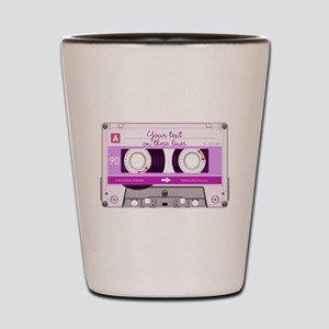 Cassette Tape - Pink Shot Glass
