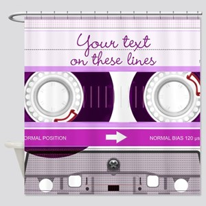 Cassette Tape - Pink Shower Curtain