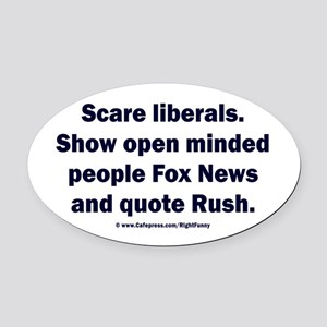 Scare Liberals Oval Car Magnet