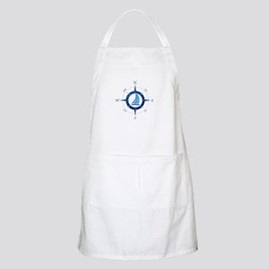 Sailboat And Blue Compass Apron