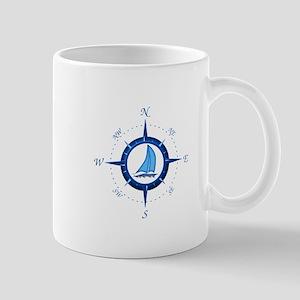 Sailboat And Blue Compass Mug