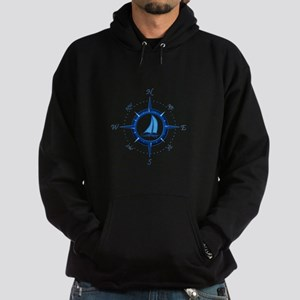 Sailboat And Blue Compass Hoodie