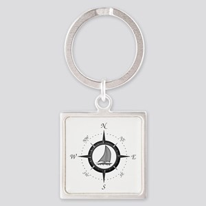 Sailboat and Compass Rose Keychains