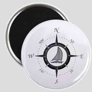 Sailboat and Compass Rose Magnet