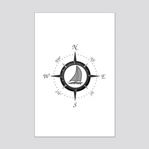 Sailboat and Compass Rose Posters