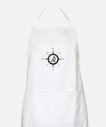 Sailboat and Compass Rose Apron