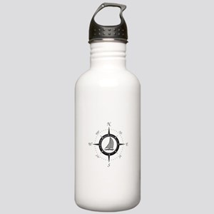 Sailboat and Compass Rose Water Bottle