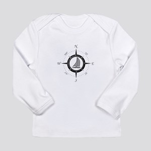 Sailboat and Compass Rose Long Sleeve T-Shirt