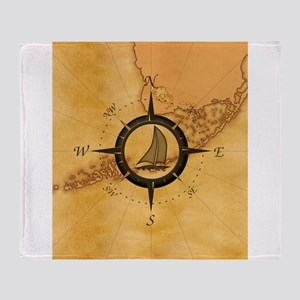 Key West Compass Rose Throw Blanket