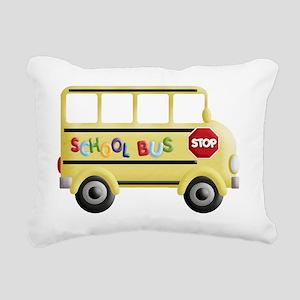 cute yellow school bus Rectangular Canvas Pillow