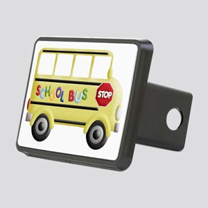 cute yellow school bus Rectangular Hitch Cover