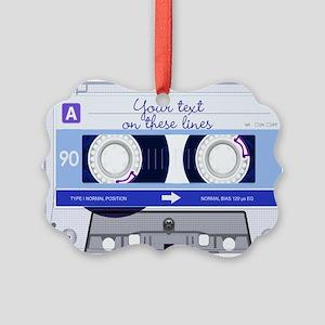 Cassette Tape - Blue Picture Ornament